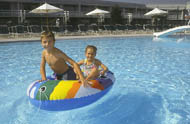 Lancaster Host Resort offers both an indoor and outdoor pool.
